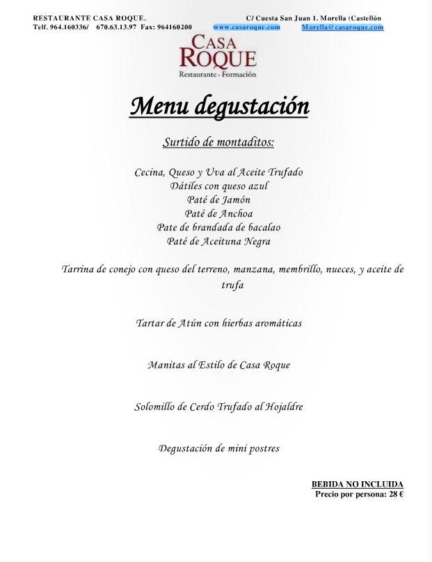 Restaurante casa roque - Menu degustacion casa juan ...